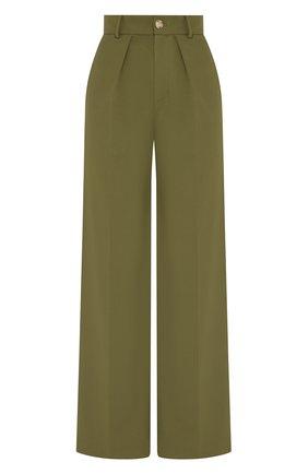 Женские шерстяные брюки LESYANEBO зеленого цвета, арт. SS20/Н-412   Фото 1