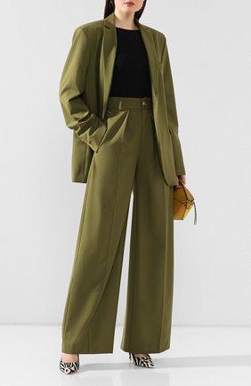 Женские шерстяные брюки LESYANEBO зеленого цвета, арт. SS20/Н-412   Фото 2