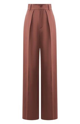 Женские шерстяные брюки LESYANEBO розового цвета, арт. SS20/Н-412   Фото 1