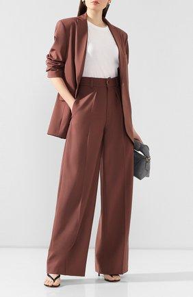 Женские шерстяные брюки LESYANEBO розового цвета, арт. SS20/Н-412   Фото 2
