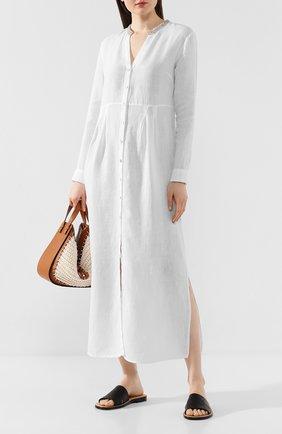 Женское льняное платье 120% LINO белого цвета, арт. R0W40FU/0115/002 | Фото 2