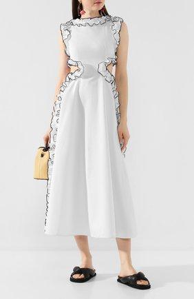 Женское хлопковое платье CHRISTOPHER KANE белого цвета, арт. RE20 DR3319 TAIL0RED C0TT0N | Фото 2