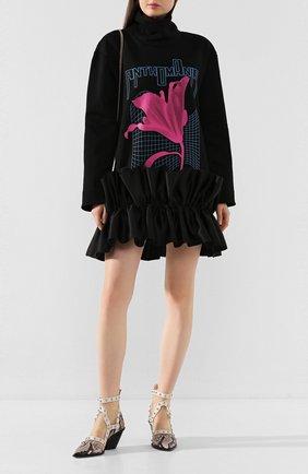 Женское хлопковое платье CHRISTOPHER KANE черного цвета, арт. RE20 DR3343 SINGLE FACED JERSEY | Фото 2