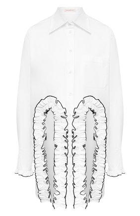 Женская хлопковая рубашка CHRISTOPHER KANE белого цвета, арт. RE20 SH251 TAIL0RED C0TT0N | Фото 1