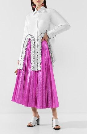 Женская юбка-миди CHRISTOPHER KANE фуксия цвета, арт. RE20 SK1251 LAMINATED NYL0N | Фото 2