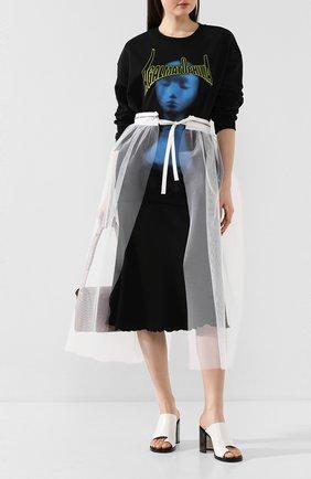 Женская хлопковый свитшот CHRISTOPHER KANE черного цвета, арт. RE20 SW342 L00PBACK SWEATSHIRT | Фото 2