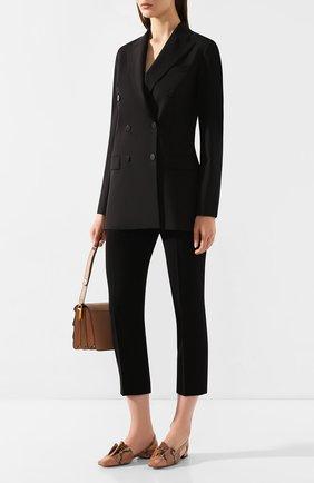 Женские брюки THEORY черного цвета, арт. K0109203 | Фото 2