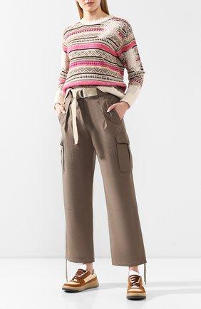 Женские брюки RAG&BONE хаки цвета, арт. WAW19H7003N303   Фото 2