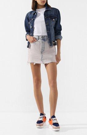 Женская джинсовая юбка DENIM X ALEXANDER WANG розового цвета, арт. 4DC1205621 | Фото 2