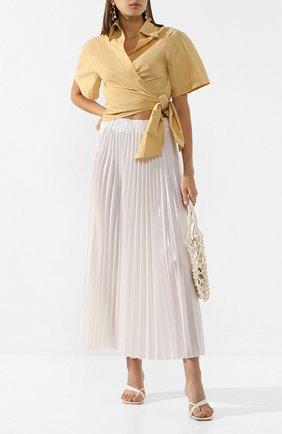 Женская плиссированная юбка NUDE белого цвета, арт. 1103700/SKIRT | Фото 2
