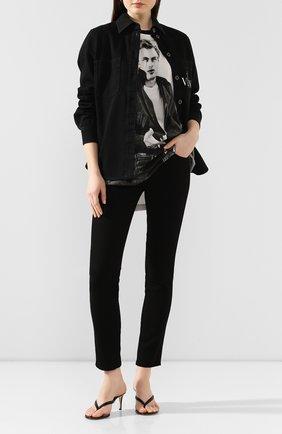 Женская хлопковая футболка DOLCE & GABBANA черно-белого цвета, арт. G8LI8Z/G7VUZ | Фото 2