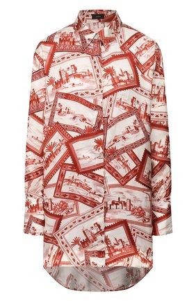 Женская рубашка из вискозы JOSEPH оранжевого цвета, арт. JF004077 | Фото 1