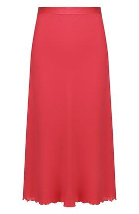 Женская шелковая юбка THEORY малинового цвета, арт. K0102306 | Фото 1