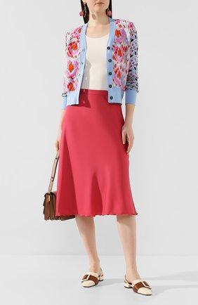 Женская шелковая юбка THEORY малинового цвета, арт. K0102306 | Фото 2