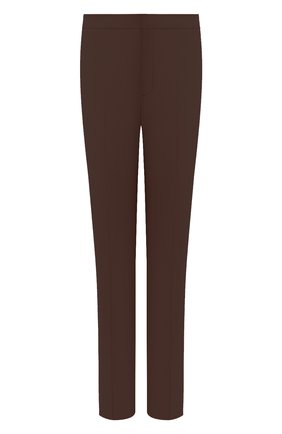 Женские хлопковые брюки LORO PIANA коричневого цвета, арт. FAL1273   Фото 1