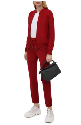 Женский кардиган из смеси шелка и хлопка LORO PIANA красного цвета, арт. FAG1727 | Фото 2