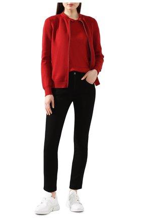 Женская льняная футболка LORO PIANA красного цвета, арт. FAD5396 | Фото 2 (Материал внешний: Лен; Длина (для топов): Стандартные; Принт: Без принта; Стили: Классический, Минимализм, Кэжуэл; Рукава: Короткие; Женское Кросс-КТ: Футболка-одежда; Статус проверки: Проверена категория)