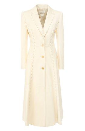 Женское кожаное пальто ALEXANDER MCQUEEN бежевого цвета, арт. 621735/Q5ADY | Фото 1