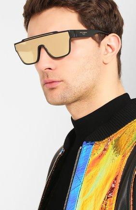 Мужские солнцезащитные очки DOLCE & GABBANA золотого цвета, арт. 6125-501/03 | Фото 2