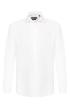 Мужская хлопковая сорочка CORNELIANI белого цвета, арт. 85P100-0111408/00 | Фото 1