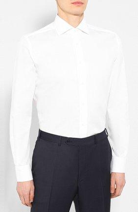 Мужская хлопковая сорочка CORNELIANI белого цвета, арт. 85P100-0111408/00 | Фото 3