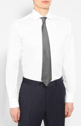 Мужская хлопковая сорочка CORNELIANI белого цвета, арт. 85P100-0111408/00 | Фото 4