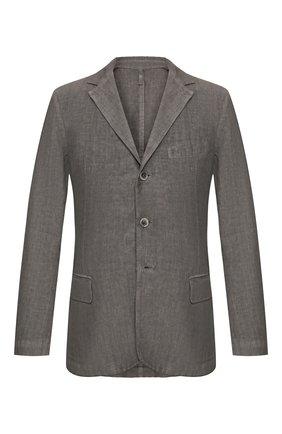 Мужской льняной пиджак 120% LINO серого цвета, арт. R0M8469/0253/S00 | Фото 1