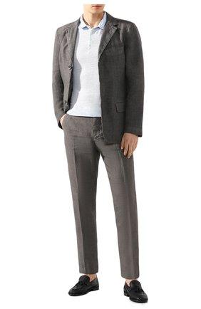 Мужской льняной пиджак 120% LINO серого цвета, арт. R0M8469/0253/S00 | Фото 2