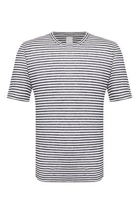 Мужская льняная футболка 120% LINO разноцветного цвета, арт. R0M7186/E738/300 | Фото 1