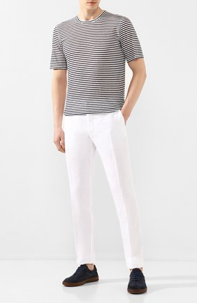 Мужская льняная футболка 120% LINO разноцветного цвета, арт. R0M7186/E738/300 | Фото 2