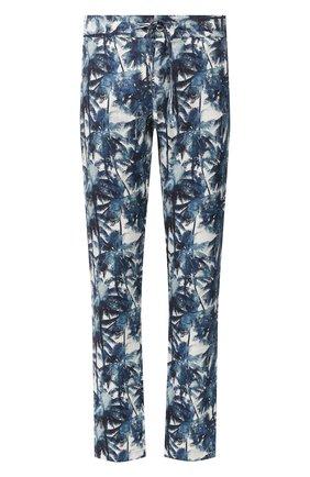 Мужской льняные брюки 120% LINO синего цвета, арт. R0M299M/F795/000 | Фото 1