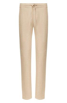 Мужской льняные брюки 120% LINO бежевого цвета, арт. R0M299M/0253/000 | Фото 1