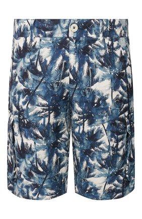 Мужские льняные шорты 120% LINO синего цвета, арт. R0M2426/F795/000 | Фото 1