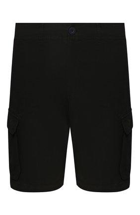 Мужские льняные шорты 120% LINO черного цвета, арт. R0M2426/0253/000 | Фото 1