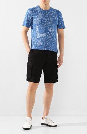 Мужские льняные шорты 120% LINO черного цвета, арт. R0M2426/0253/000 | Фото 2