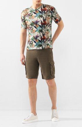 Мужские льняные шорты 120% LINO хаки цвета, арт. R0M2426/0253/000 | Фото 2