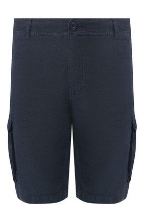 Мужские льняные шорты 120% LINO темно-синего цвета, арт. R0M2426/0253/000 | Фото 1