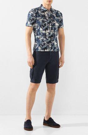 Мужские льняные шорты 120% LINO темно-синего цвета, арт. R0M2426/0253/000 | Фото 2