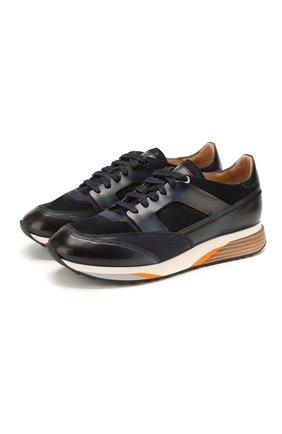 Мужские комбинированные кроссовки SANTONI темно-синего цвета, арт. MBEN21284BGALGRDU60 | Фото 1