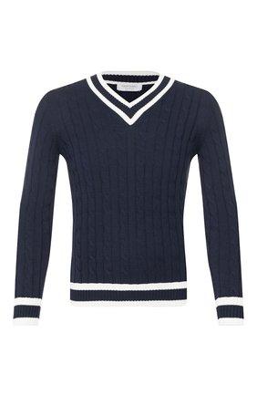Мужской хлопковый пуловер GRAN SASSO синего цвета, арт. 23139/19004 | Фото 1