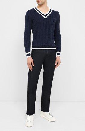 Мужской хлопковый пуловер GRAN SASSO синего цвета, арт. 23139/19004 | Фото 2