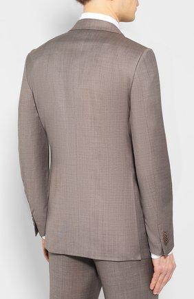 Мужской шерстяной костюм ERMENEGILDO ZEGNA темно-бежевого цвета, арт. 722037/221225 | Фото 3