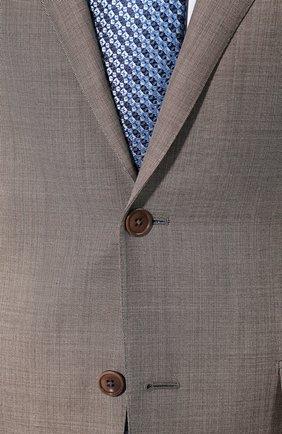 Мужской шерстяной костюм ERMENEGILDO ZEGNA темно-бежевого цвета, арт. 722037/221225 | Фото 6