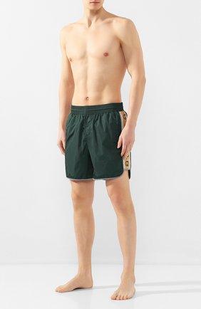Детского плавки-шорты GUCCI зеленого цвета, арт. 599552/XHABX   Фото 2