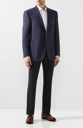 Мужской шерстяные брюки MARCO PESCAROLO темно-серого цвета, арт. SLIM80/4160 | Фото 2