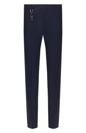Мужской шерстяные брюки MARCO PESCAROLO темно-синего цвета, арт. SLIM80/4160 | Фото 1
