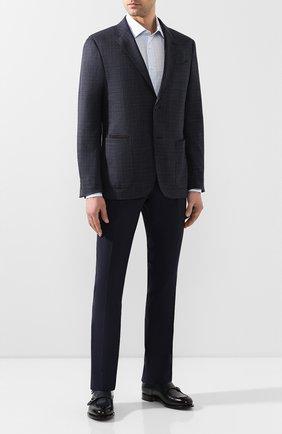 Мужской шерстяные брюки MARCO PESCAROLO темно-синего цвета, арт. SLIM80/4160 | Фото 2