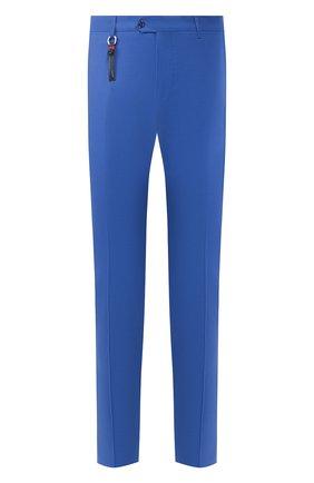 Мужской шерстяные брюки MARCO PESCAROLO синего цвета, арт. SLIM80/4160 | Фото 1