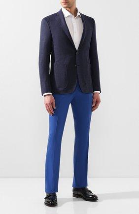 Мужской шерстяные брюки MARCO PESCAROLO синего цвета, арт. SLIM80/4160 | Фото 2