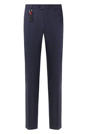 Мужской брюки из смеси шерсти и шелка MARCO PESCAROLO синего цвета, арт. SLIM80/4179 | Фото 1